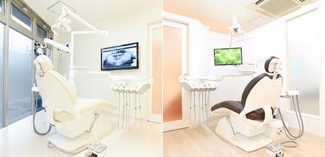 診療室は「個室」「半個室」です